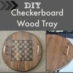 Reversible Checkerboard Wooden Tray