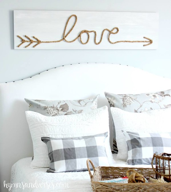 DIY Jute Rope Love Sign