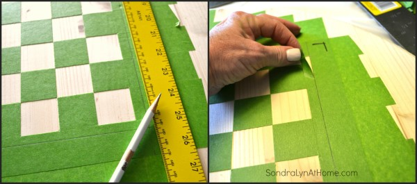 How to Make a Checkerboard-4- Sondra Lyn at Home