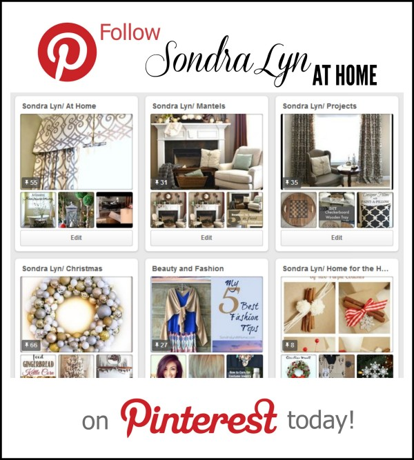 Pinterest Graphic - Sondra Lyn at Home.com