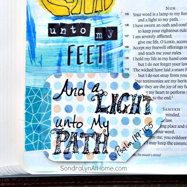 Bible Journaling -- Thy Word page - Sondra Lyn at Home.com