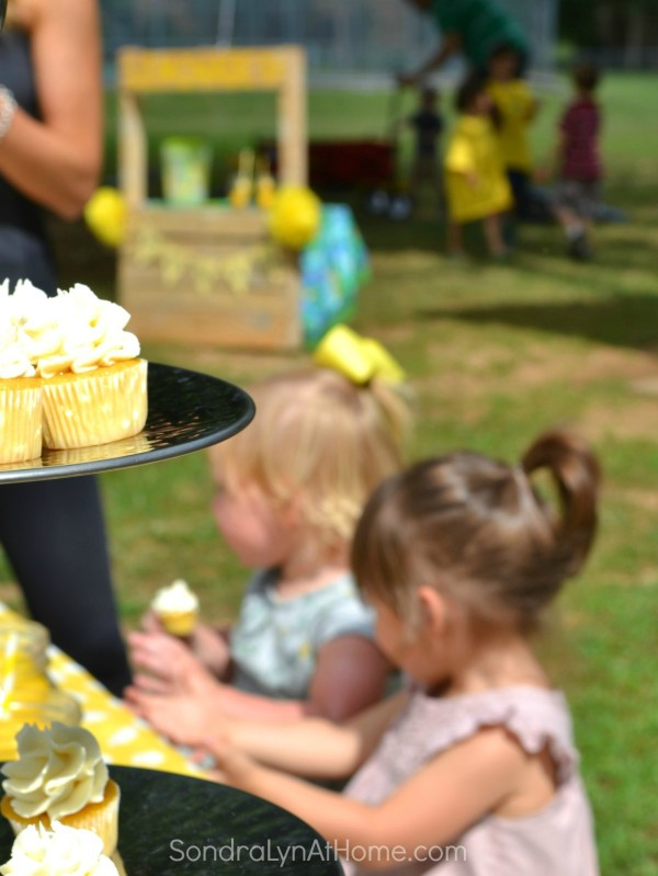 Cupcakes and Littles- Lemonade Stand Party - Sondra Lyn at Home.com