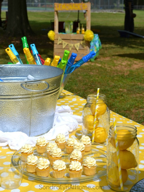 Lemonade Stand Birthday Party--Sondra Lyn at Home.com