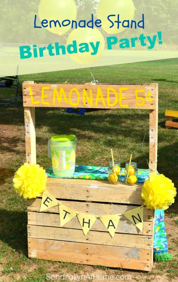 Lemonade Stand Birthday Party--- Sondra Lyn at Home.com