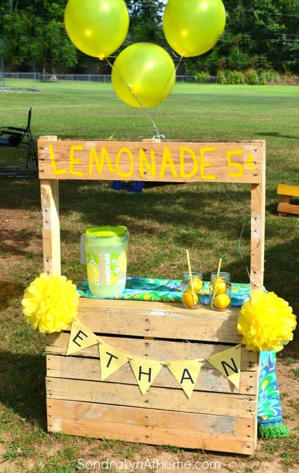 Lemonade Stand Birthday - Sondra Lyn at Home.com