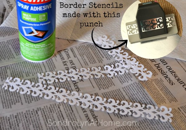 Magnetic Spice Board - stencil border inset- Sondra Lyn at Home