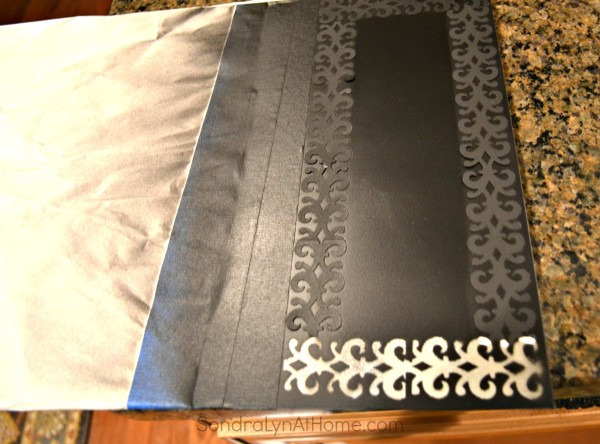 Magnetic Spice Board- stencil border painted-- Sondra Lyn at Home
