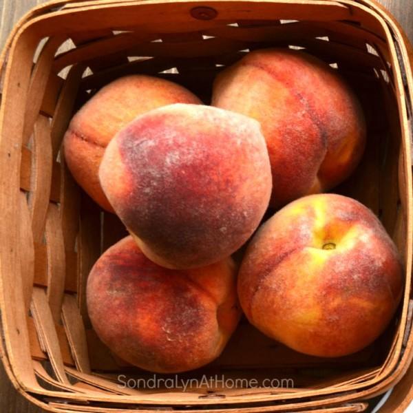 Peach Freezer Jam - Sondra Lyn at Home.com