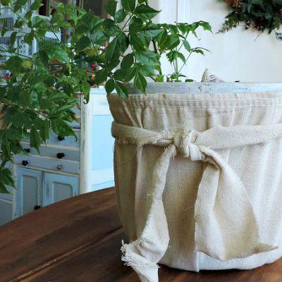 Anthropologie Inspired Drop Cloth Pot - What Meegan Makes.com