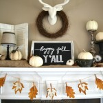 Fall Mantel – Happy Fall, Y'all!