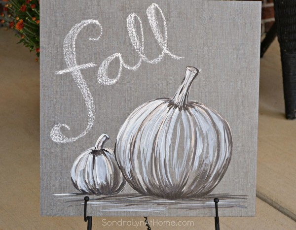 Fall Pumpkin - Acrylic on Tile --- Sondra Lyn at Home.com