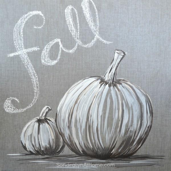 Fall Pumpkin - Acrylic on Tile- Sondra Lyn at Home.com