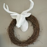 Faux Deer Mount for Fall Mantel