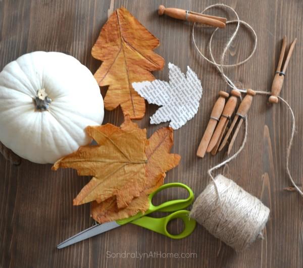 Fall Leaf Banner - SondraLynAtHome.com