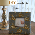 DIY Fabric Photo Frame using a Fat Quarter