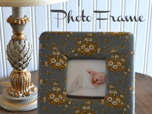 DIY Fabric Photo Frame using a Fat Quarter