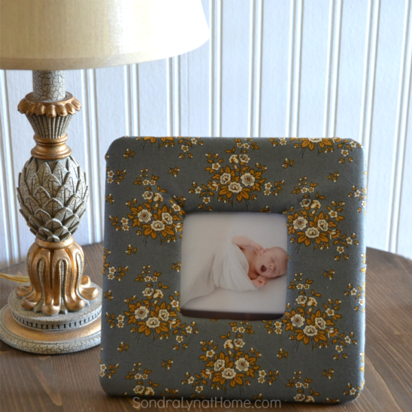 DIY Fabric Photo Frame Fabric - 736x736- Sondra Lyn at Home.com