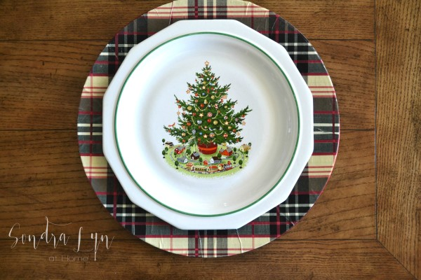 plaid charger with pfaltzgraff christmas plate sondra lyn at home - Christmas Charger Plates