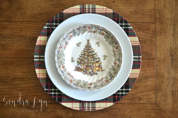 Plaid Charger with Seasons Greetings Queen's Christmas Plate - Sondra Lyn at Home