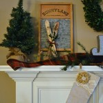 20-Minute Vintage Christmas Mantel