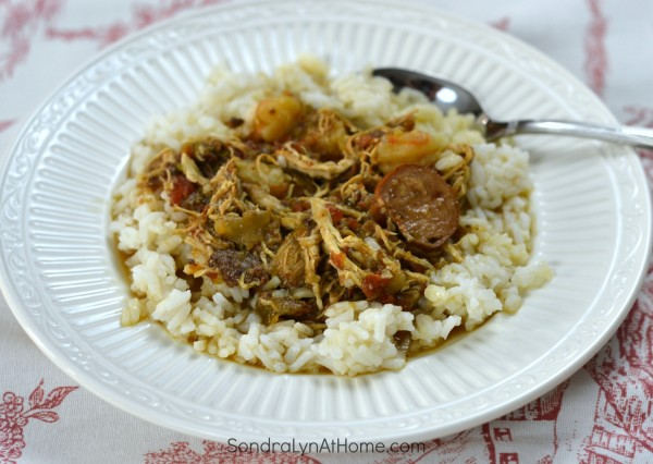 Chicken and Sausage Gumbo - Sondra Lyn at Home.com