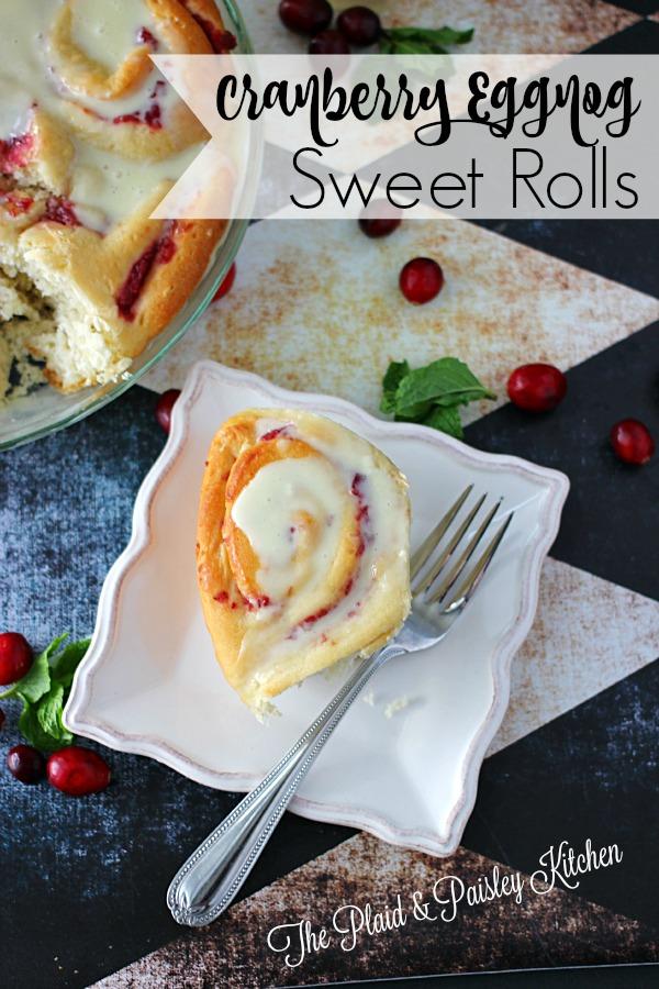 Cranberry Eggnog Sweet Rolls