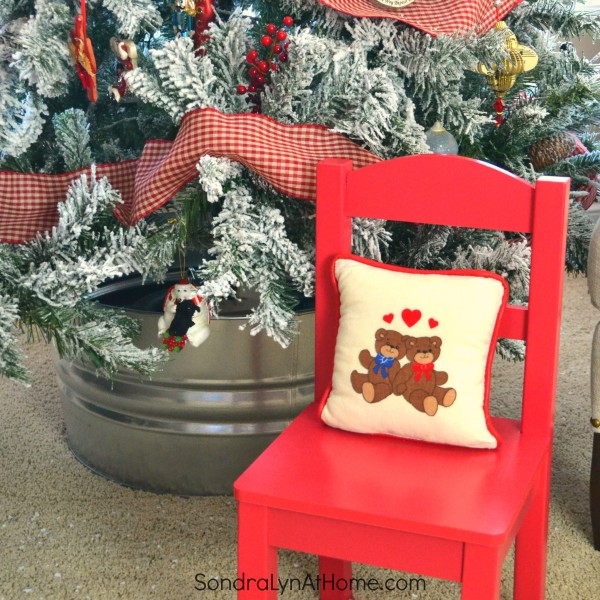 amily Room at Christmastime - child chair - All Through the House Tour - Sondra Lyn at Home