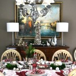 Holiday Buffet with Mercury Glass
