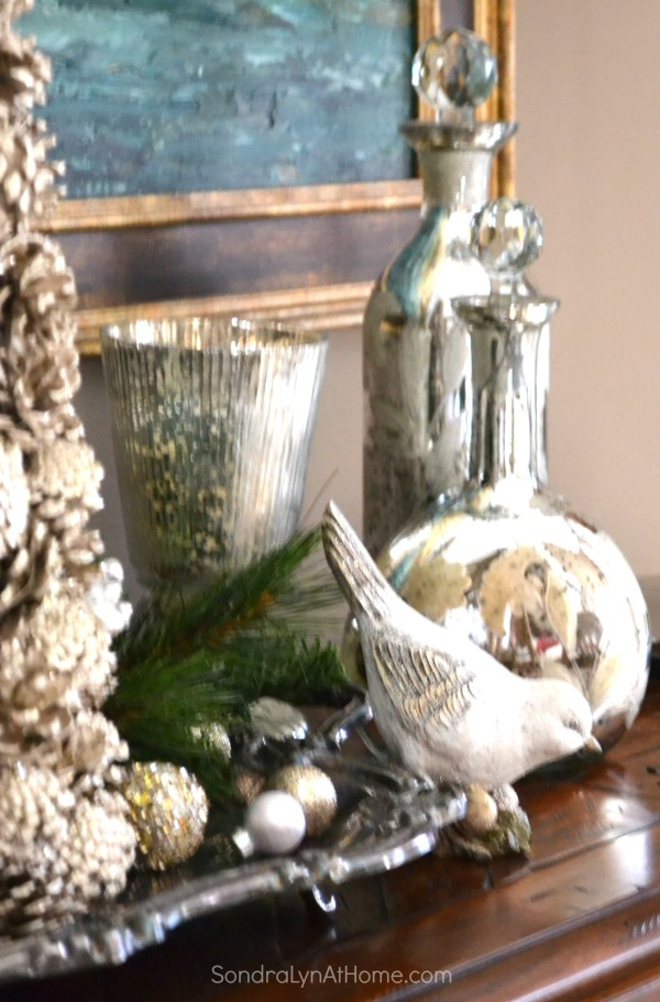 Holiday Buffet 2015 - Mercury Glass -- Sondra Lyn at Home.com