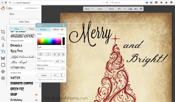 How to Make a Printable - add text - Sondra Lyn at Home.com