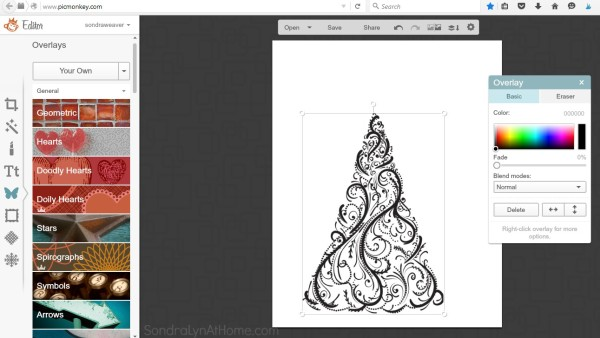 How to Make a Printable - import image from Graphic Stock- Sondra Lyn at Home.com