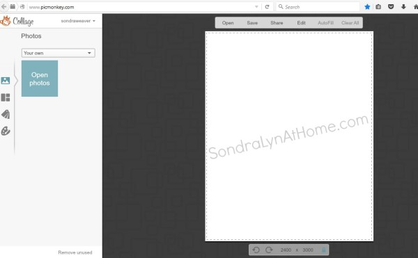 How to Make a Printable - start with blank field- Sondra Lyn at Home.com