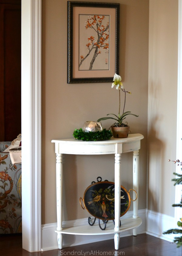 Side Table Makeover with Folk Art Chalk -- after -- Sondra Lyn at Home.com