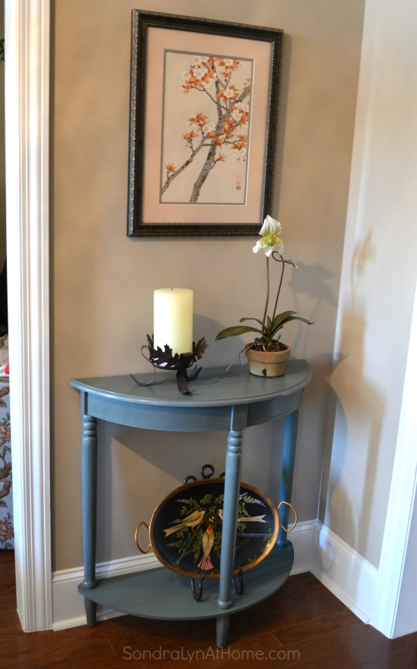 Side Table Makeover with Folk Art Chalk - before -- Sondra Lyn at Home.com