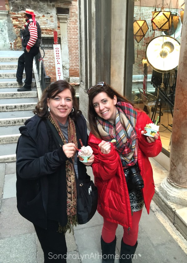 Enjoying Gelato in Venice - Sondra Lyn At Home.com