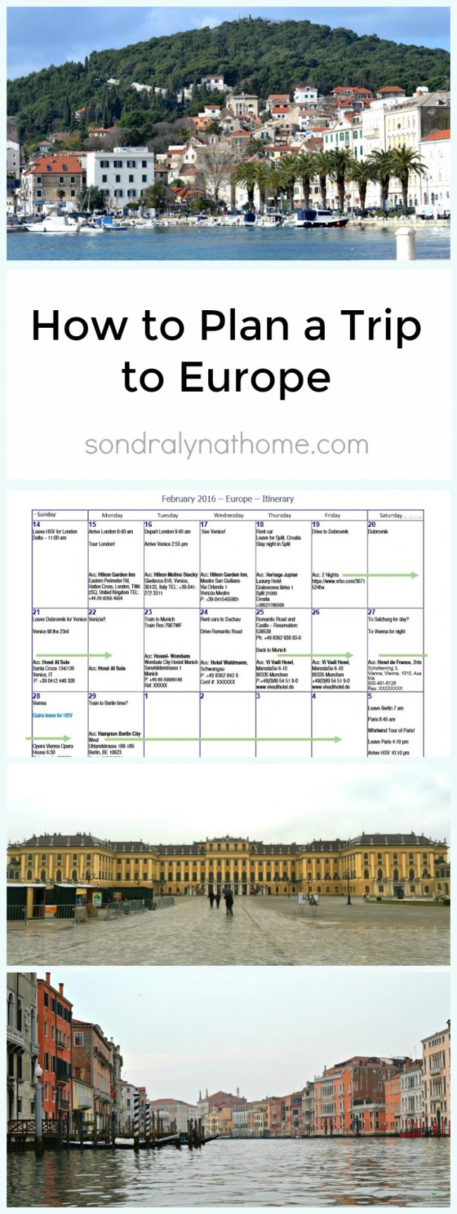 How to Plan a Trip to Europe - Sondra Lyn at Home.com