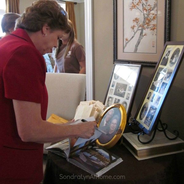 60th Anniversary Guest Signing Guest Book - Sondra Lyn at Home