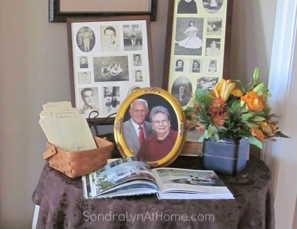60th Anniversary Guest Table - Sondra Lyn at Home
