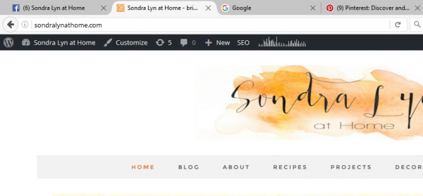 Create a Favicon for a WP site - Sondra Lyn at Home.com