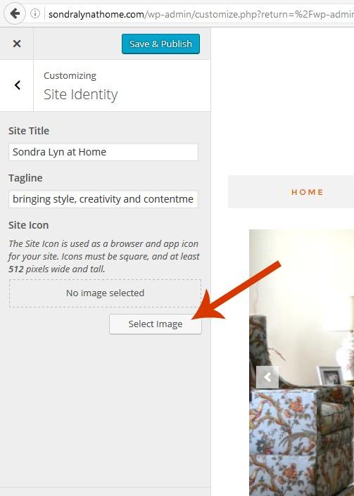 Creating a Favicon in WordPress - Sondra Lyn at Home