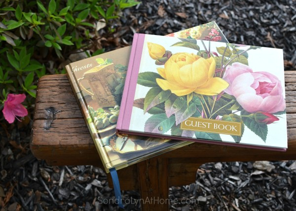 Have you guests sign a guest book - Sondra Lyn at Home.com