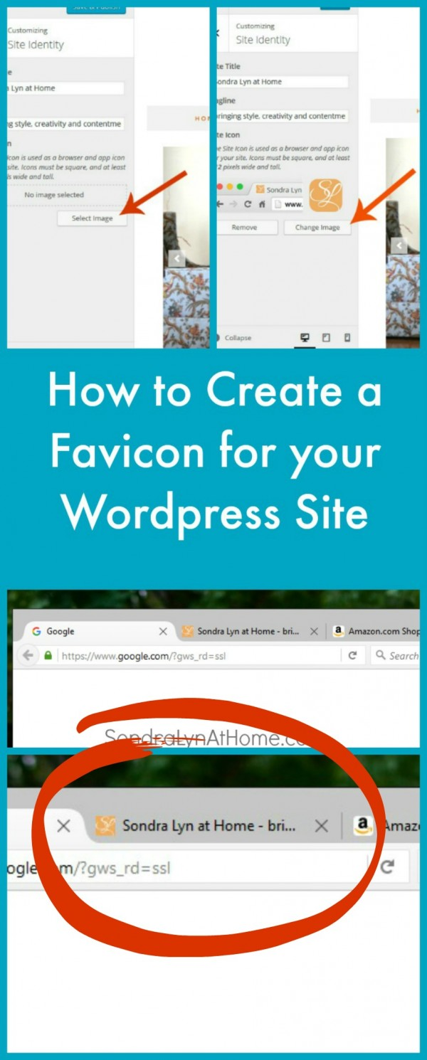 How to Create a Custom Favicon for your website in WordPress-Sondra Lyn at Home