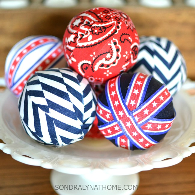 Red White Blue Patriotic Decor Filler Balls in MilkGlass Bowl-650x650-SONDRALYNATHOME.com-