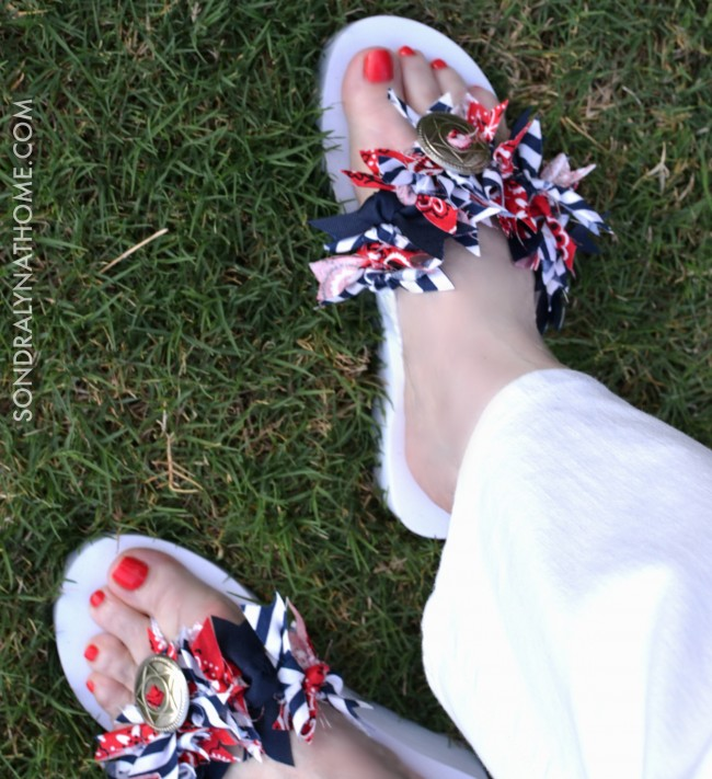 Red White Blue FlipFlops - SONDRALYNATHOME.COM
