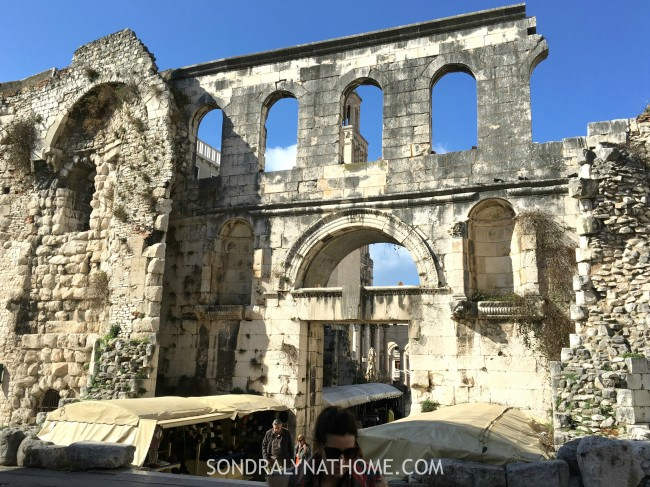 Eating My Way Through Europe - Diocletian's Palace - Split,Croatia - Sondra Lyn at Hom