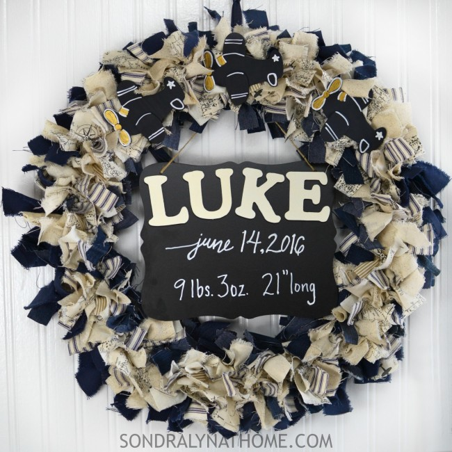 Fabric Scrap DIY Door Wreath