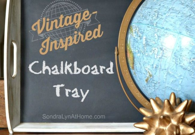 Painted Chalkboard IKEA Tray Hack - SondraLynAtHome.com