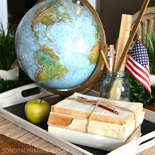 Quick Back-to-School Tablescape