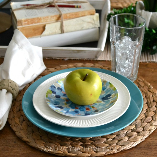 Back-to-School Place Setting - Sondra Lyn at Home.com