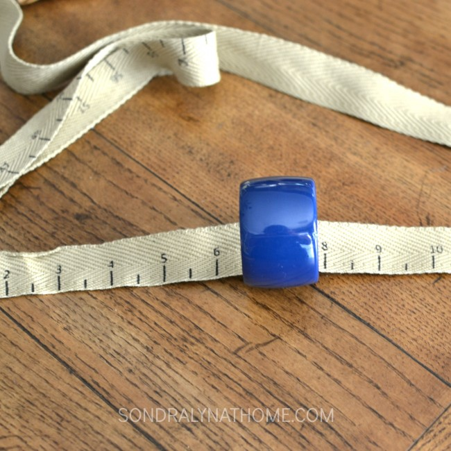 Back-to-School Tablescape - Napkin Rings wrapped with tape measure- Sondra Lyn at Home.com